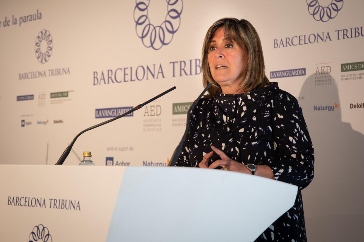 La alcaldesa de L'Hospitalet de Llobregat y presidenta de la Diputación de Barcelona, Núria Marín