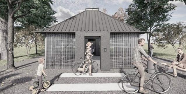 Render de los nuevos aparcamientos de bicicletas.